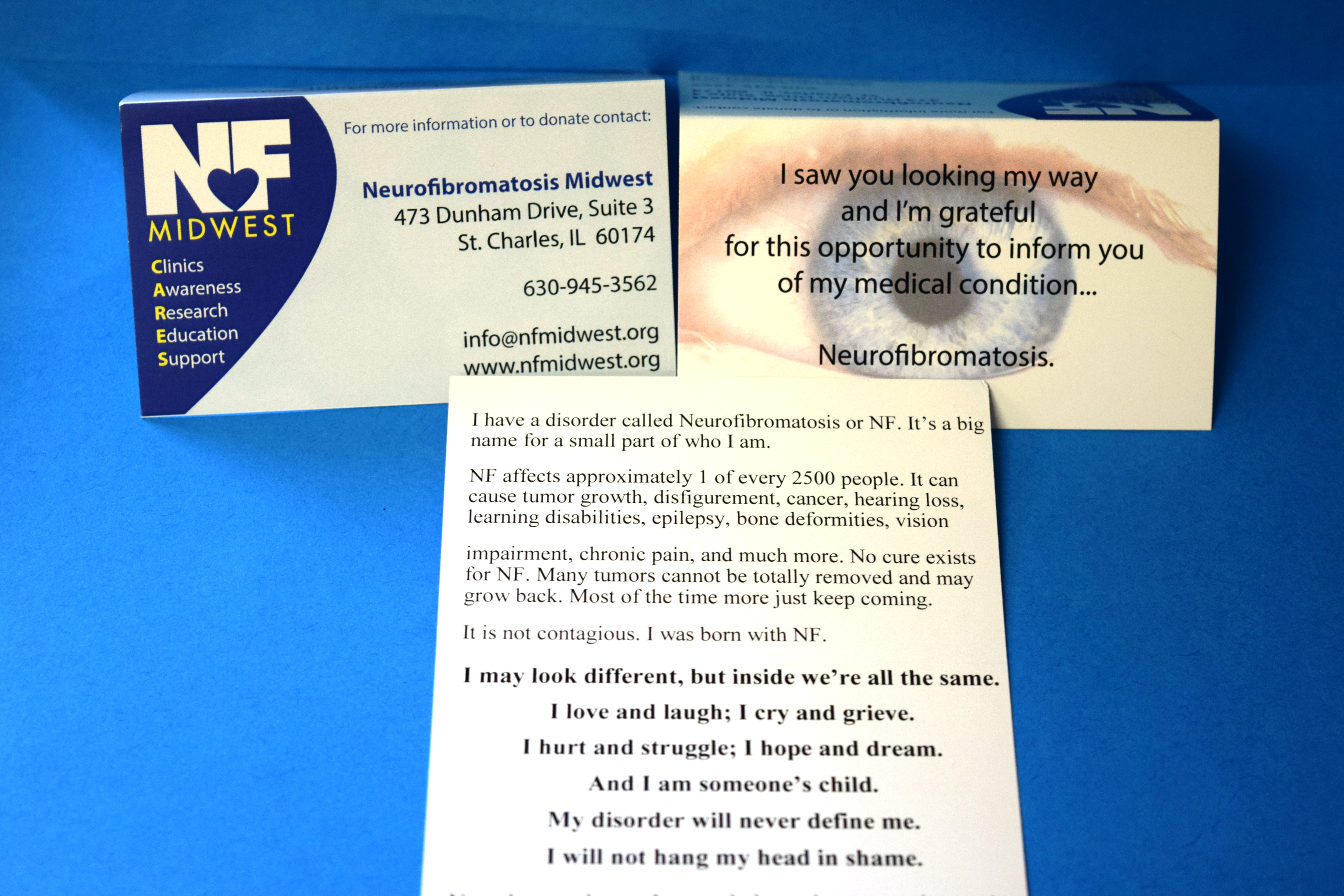 "i saw you looking"" nf awareness business cards qty 10"